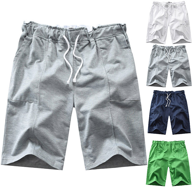 Men's Swim Shorts Swim Trunks Board Shorts Drawstring - Swimming Surfing Water Sports Solid Colored Summer