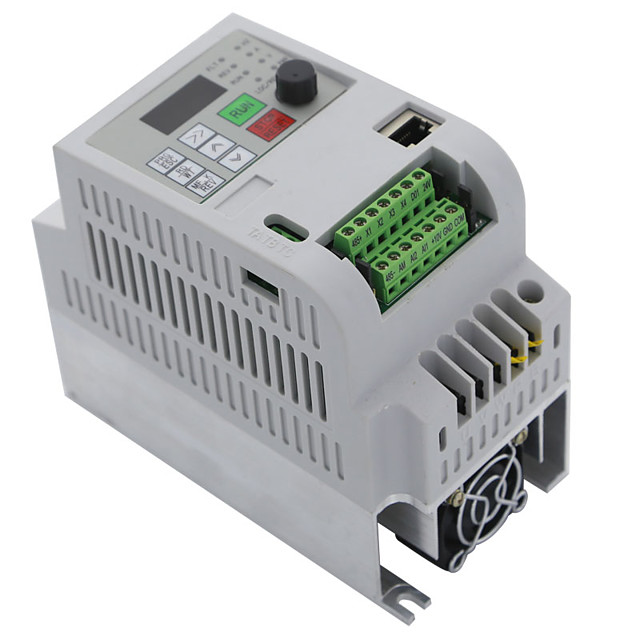 Motor speed inverter three-phase 380V output 10A 2.2kw3HP motor speed controller-White