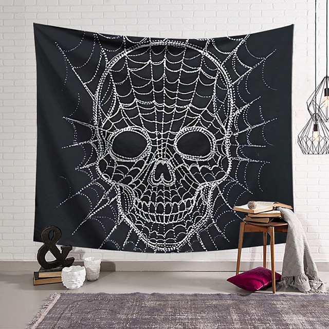 Wall Tapestry Art Decor Blanket Curtain Hanging Home Bedroom Living Room Decoration and Classic Theme and Black and White