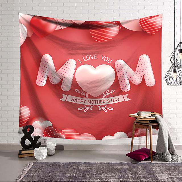 falikárpit művészeti dekor takaró függöny függő otthoni hálószoba nappali dekoráció poliészter szerelem