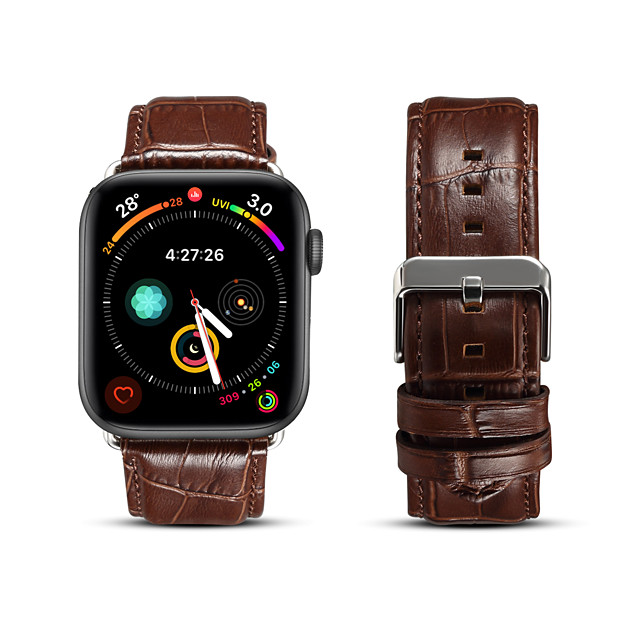 Watch Band for Apple Watch Series 6 / SE / 5/4 44mm 40mm / Apple Watch Series 3/2/1 38mm 42mm Apple Business Band Genuine Leather Wrist Strap