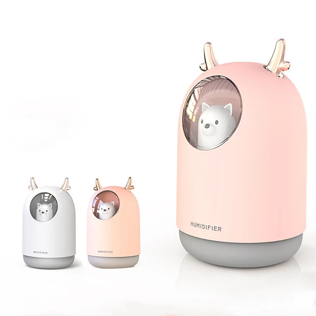 300ML Mini Bear Air Humidifier USB Aromatherapy Aroma Essential Oil Diffuser for Home Office Car Cool Mist Maker LED Night Light