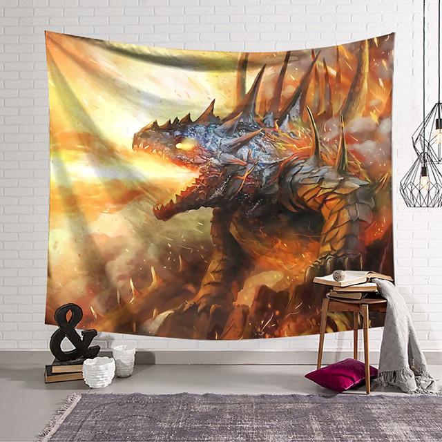 שטיח קיר תפאורה אמנות שמיכת וילון דינוזאור תלוי סלון חדר שינה בבית קישוט ופנטזיה וחידוש