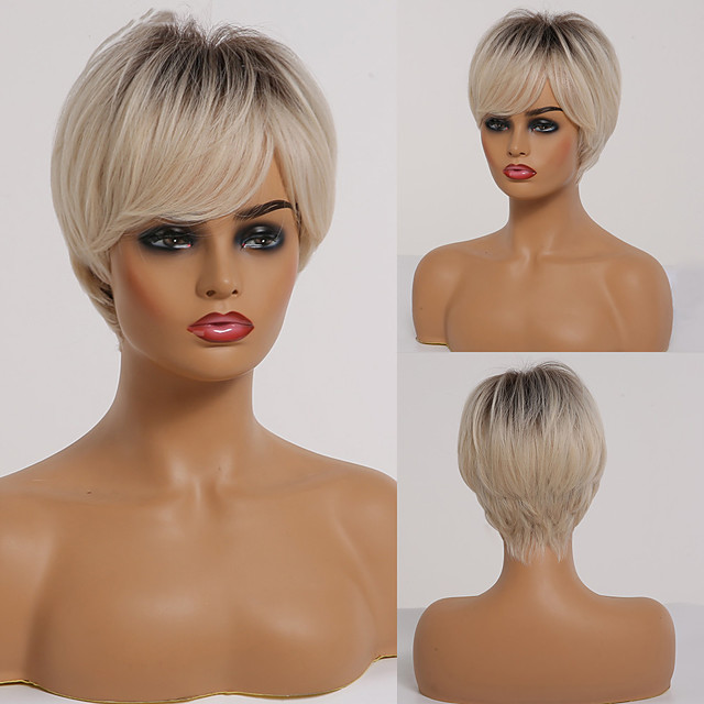 Synthetic Wig Natural Straight Short Bob Wig Short A1 A2 A3 A4 A5 Synthetic Hair Women's Cosplay Party Fashion Blonde