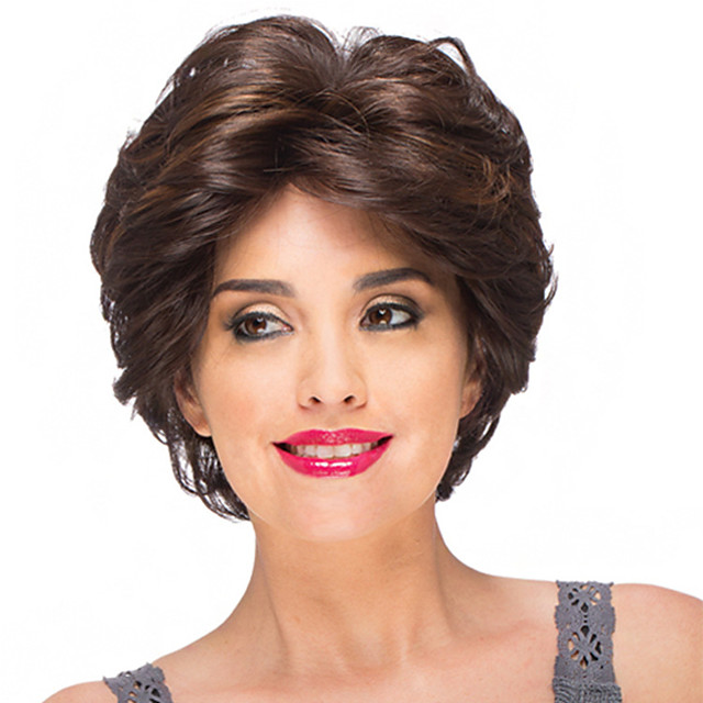 Synthetic Wig Curly Short Bob Wig Short Black / Brown Synthetic Hair Women's Party Fashion Comfy Black Brown