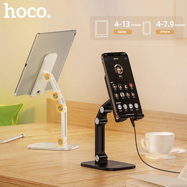 HOCO Suport Telefon Birou iPad Telefon Celular Tableta Stativ Ajustabil Suport birou telefonic Ajustabil Silicon ABS Accesorii de Mobil iPhone 12 11 Pro Xs Xs Max Xr X 8 Samsung Glaxy S21 S20 Note20