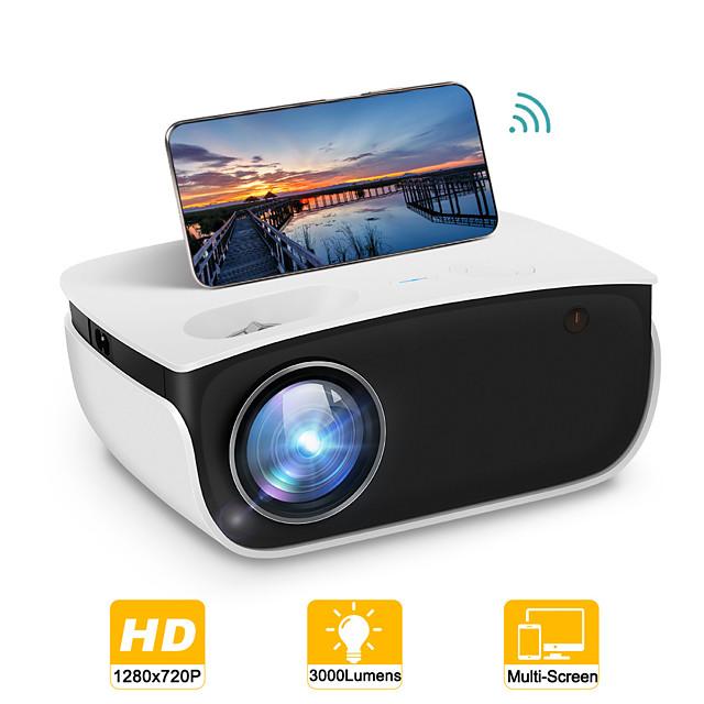 мини-проектор rd850 родной 720p Wi-Fi проектор с синхронизацией экрана смартфона портативный проектор, совместимый с tv stick, ps4, hdmi, vga, tf, av, usb