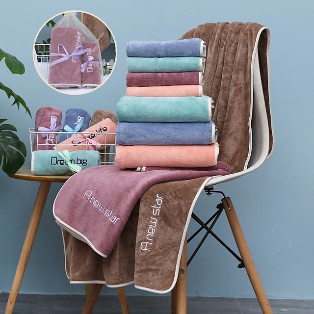 LITB Basic Bathroom Superior Quality Soft Bath Towel Solid Colored Comfortable Absorbent Daily Home Bath Towels 1 pcs 70*140cm