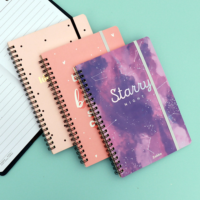 Small Fresh Coil Notebook Simple Ins Wind Rollover Spiral Notebook Creative Student Diary Notepad Customization