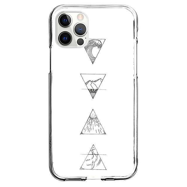 Geometric Case For Apple iPhone 12 iPhone 11 iPhone 12 Pro Max Unique Design Protective Case Pattern Back Cover TPU