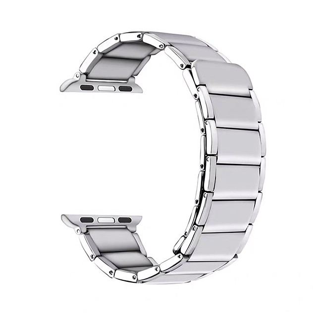 Watch Band for 44mm 40mm  42mm 38mm  Apple Watch Series 6 / SE / 5/4 / 3/2/1 Apple Business Band Stainless Steel Wrist Strap