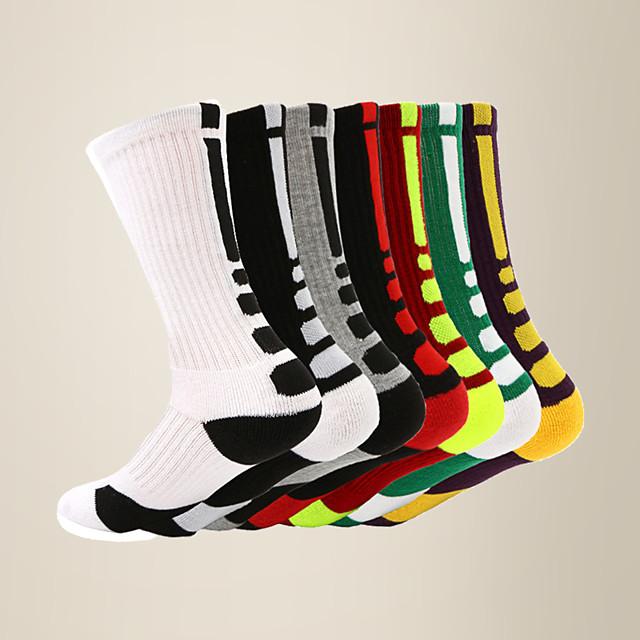 litb basic calcetines de pantorrilla de baloncesto transpirables para hombres calcetines de rizo calcetines deportivos antideslizantes para correr talla única eu 39-45 para hombre