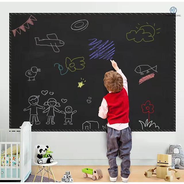 2PCS Removable PVC Blackboard Stickers Blackboard Wall Sticker Decoration for Kids Dedrooms Durable 45x100cm