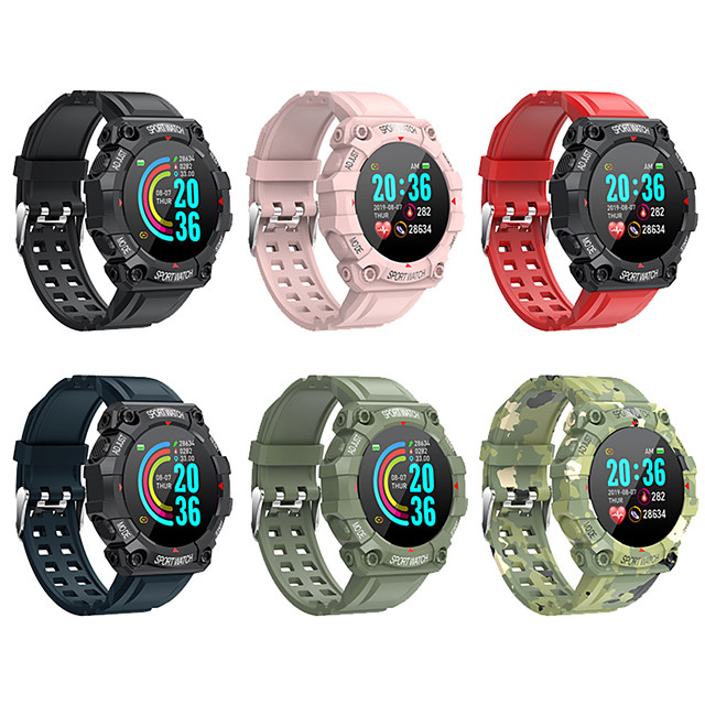 FD68 Smartwatch Support Heart Rate/Blood Pressure Measure, Sports Tracker for iPhone/Android Phones