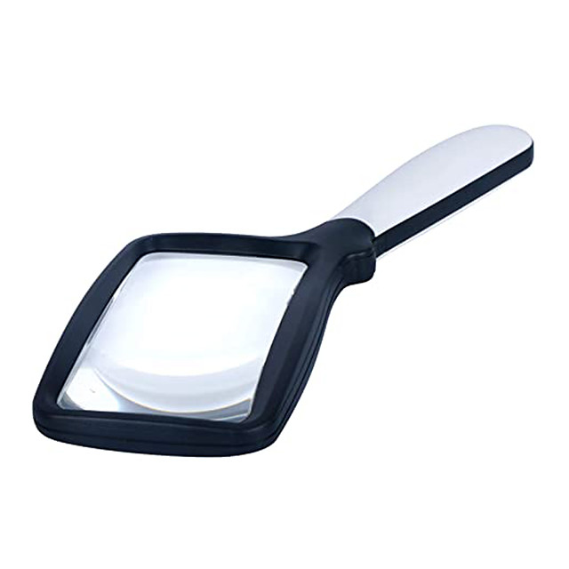 3X Handheld Magnifying Glass, Large Hand Folding Reading Magnifier with 5 Dimmable LEDs Lighted, Rectangular Magnifying Glass for Reading Small Prints, Book, Maps, Newspaper, Low Vision