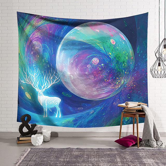 Wall Tapestry Art Decor Blanket Curtain Hanging Home Bedroom Living Room  Polyester Colorful Animal Planet