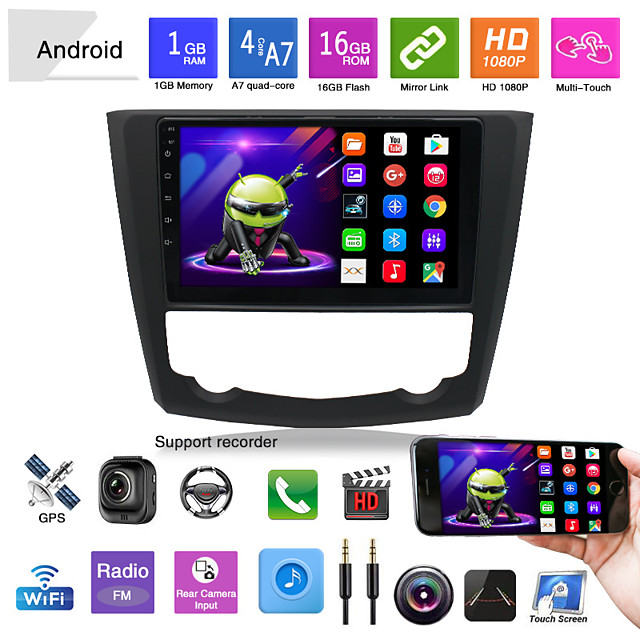 Car DVD Player Reversing Video Applicable to 15-18 Renault Correga Central Control Large Screen Android Navigation Car All-in-one