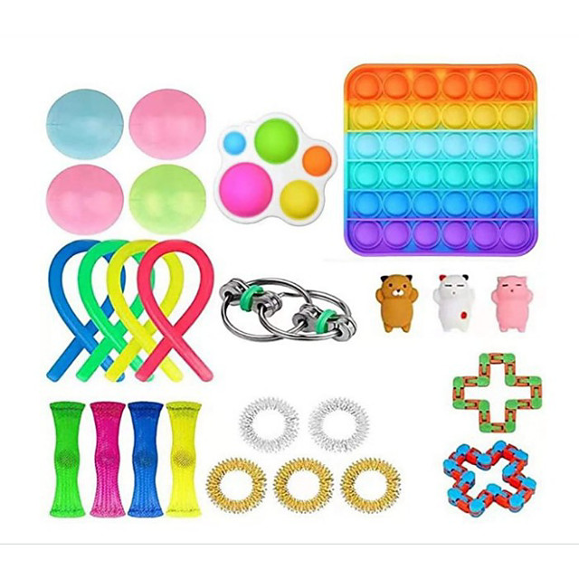 Squishy Toy Sensory Fidget Toy Stress Reliever 25 pcs Mini Creative Stress and Anxiety Relief Decompression Toys Slow Rising Plastic For Kid's Adults' Men and Women Boys and Girls Gift