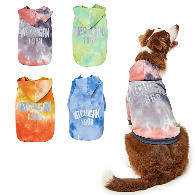 Dog Sweater Hoodie Color Block Fashion Casual / Daily Casual / Daily Outdoor Dog Clothes Puppy Clothes Dog Outfits Breathable Blue Yellow Pink Costume for Girl and Boy Dog Polyester XS S M L XL