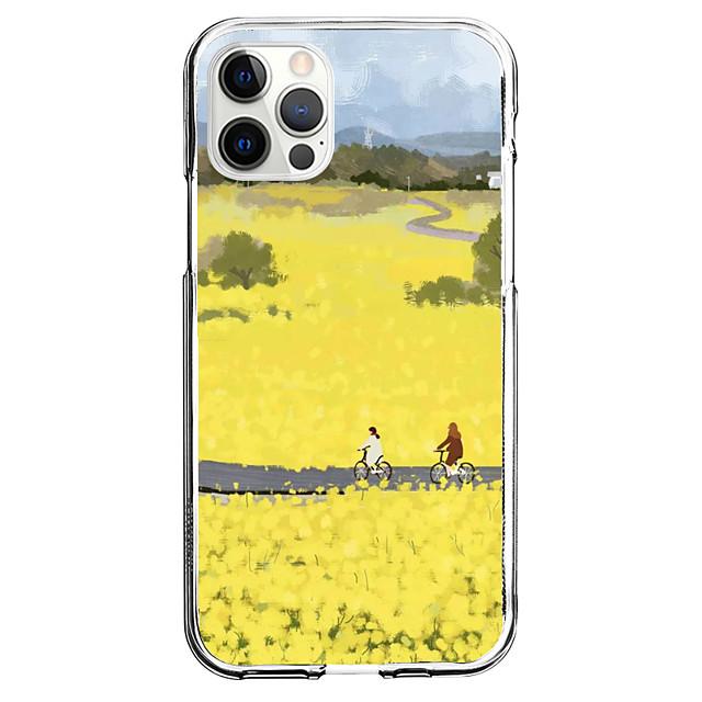 Créatif Paysage téléphone Cas Pour Apple iPhone 12 iPhone 11 iPhone 12 Pro Max Modèle unique Étui de protection Motif Coque Arriere TPU