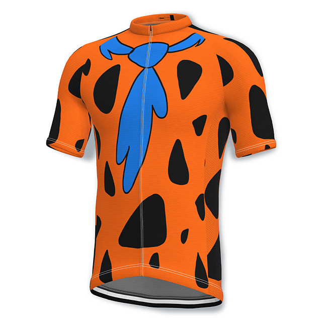 21Grams Men's Short Sleeve Cycling Jersey Summer Spandex Polyester Yellow Blue Green Bike Jersey Top Mountain Bike MTB Road Bike Cycling Quick Dry Moisture Wicking Breathable Sports Clothing Apparel