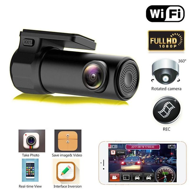 S600 HD 1280 x 720 / 1080p Night Vision Car DVR 170 Degree Wide Angle No Screen(output by APP) Dash Cam with Night Vision / Parking Monitoring / motion detection No Car Recorder