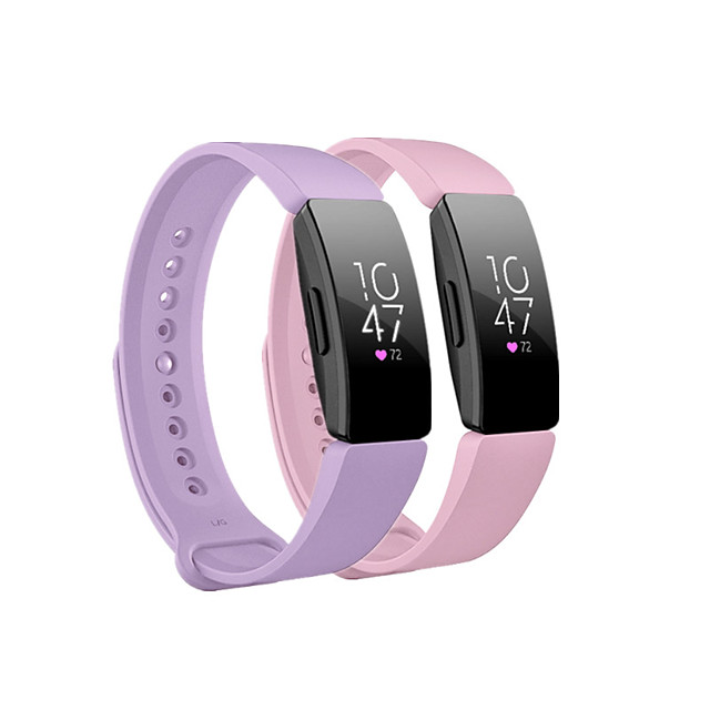 Smart Watch Band for Fitbit 2 PCS Sport Band Silicone Replacement  Wrist Strap for Fitbit Ace 2 Fitbit Inspire HR Fitbit Inspire