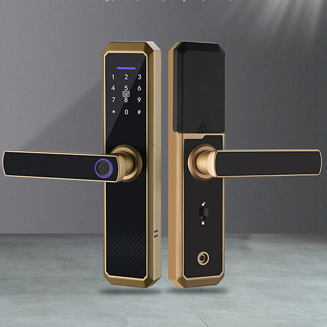Wifi Electronic Smart Door Lock With TTLock App,Security Biometric Fingerprint Intelligent Lock With Passcode RFID Alexa