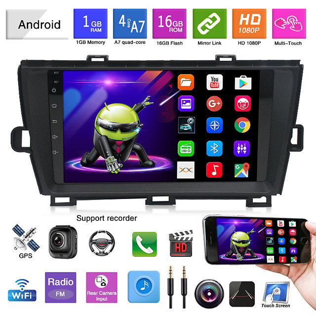 suitable for 09-13 toyota prius android navigation car gps integrated machine reversing video player