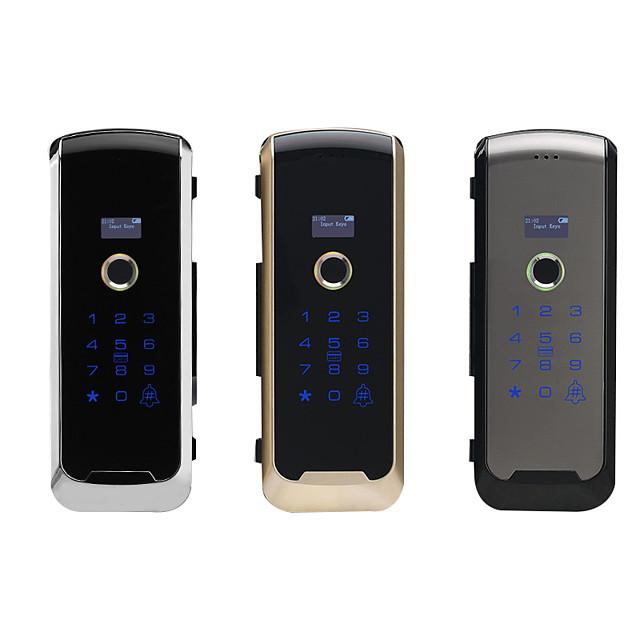 new glass door fingerprint lock free opening office lock single and double door free wiring electronic password lock smart door lock