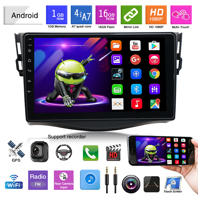 suitable for toyota 07-12 rav4 car android gps navigation all-in-one car bluetooth reversing image