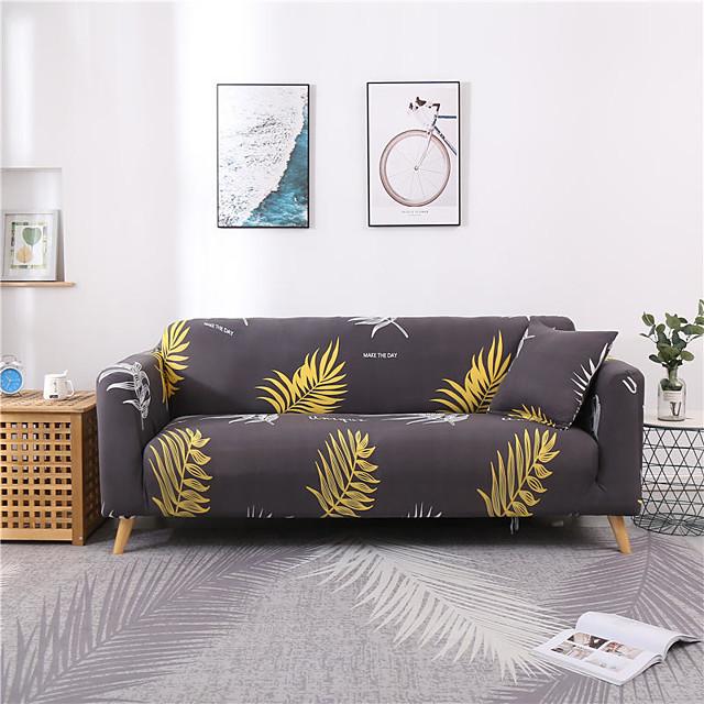 1 Pc Gray Plant Sofa Cover Elastic Sofa Cover To Living Room Pet Sofa Dust Cover Recliner Sofa Cover