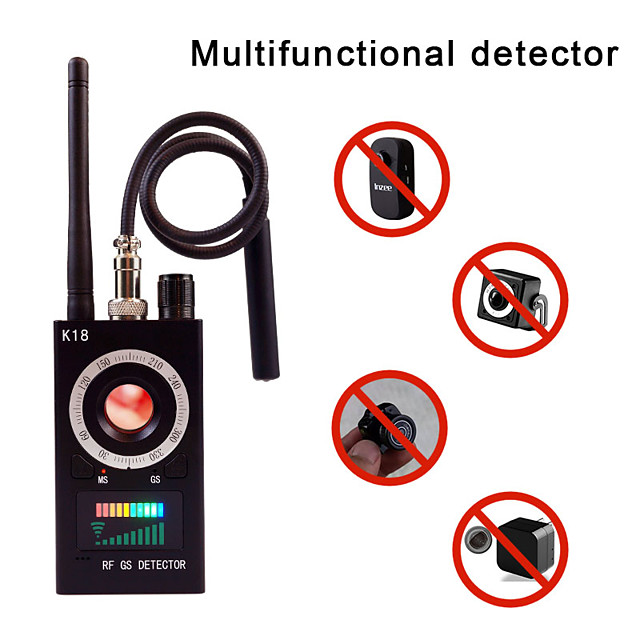 1mhz-6.5ghz k18 multi-function anti-spy detector camera gsm audio bug finder gps signal lens rf tracker detect wireless chek