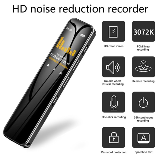 G1 Digital Voice Recorder High Definition Noise Reduction  Voice Activated Recorder Portable MP3 Player Audio Recorder with Playback
