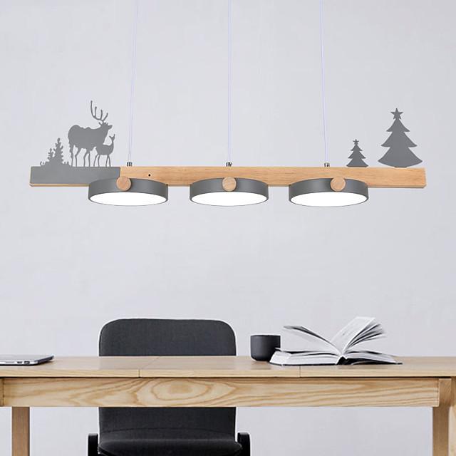 LED Pendant Light Modern Island Light White Gray Green Metal Painted Finishes Modern Nordic Style 110-120V 220-240V