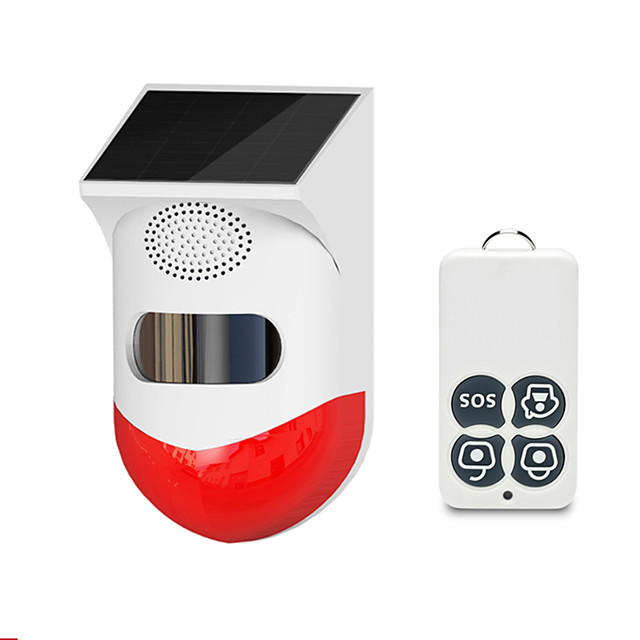 new wireless solar infrared alarm detector siren motion sensor detector for home garden yard outdoor with rf433 remote control