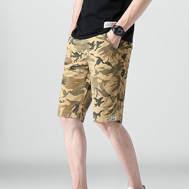 Men's Hiking Shorts Hiking Cargo Shorts Military Camo Summer Outdoor 12