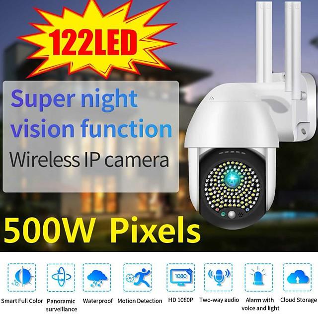 2021 5mp ptz wifi ip camera outdoor 122 led 1080p 8x digital zoom wireless security cctv surveillance camera two way audio cloud