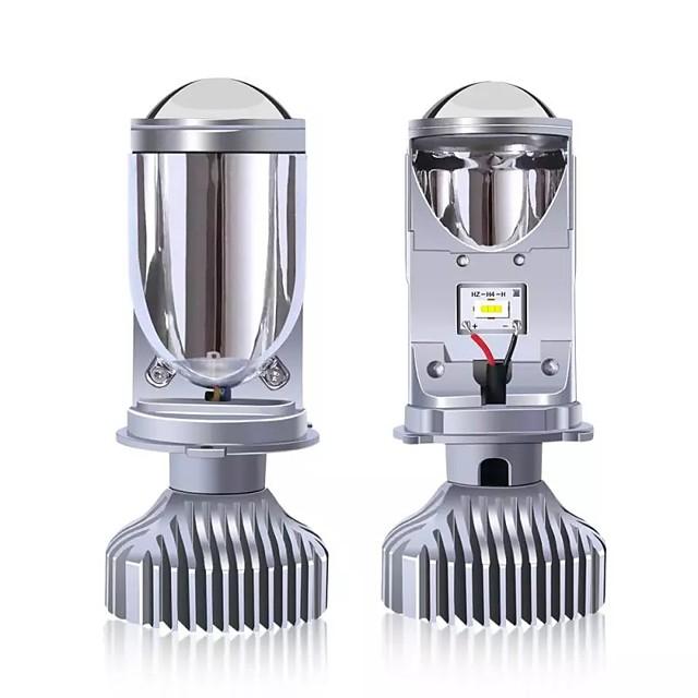 1set New H4 LED Bulb Projector Lens H4 Conversion Kit H4 Bulb 4800LM Automobiles Hi/Lo Beam LED Headlight Bulbs 12V 6000K White
