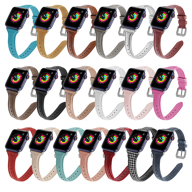 Smart Watch Band for Apple iWatch 1 pcs Business Band Genuine Leather Replacement  Wrist Strap for Apple Watch Series SE / 6/5/4/3/2/1