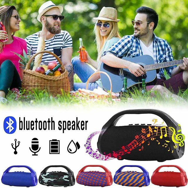 TG136 Flashlight Bluetooth Speaker Portable Outdoor Wireless Subwoofer Mini Column Stereo Music Surround Support FM TFCard Bass Box