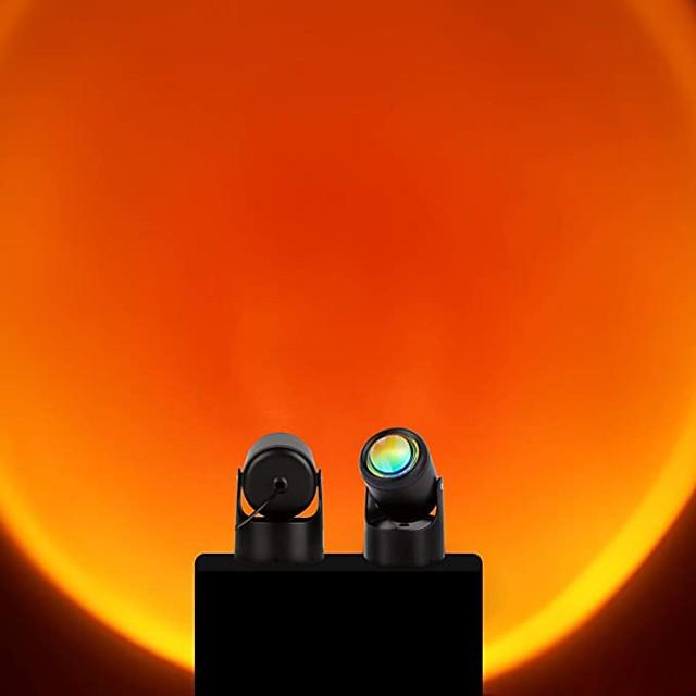 západka lampa 90 stupňů západ slunce projekce led světlo, romantické vizuální led světlo, síťové červené světlo s usb moderní podlahový stojan noční světlo obývací pokoj ložnice dekor