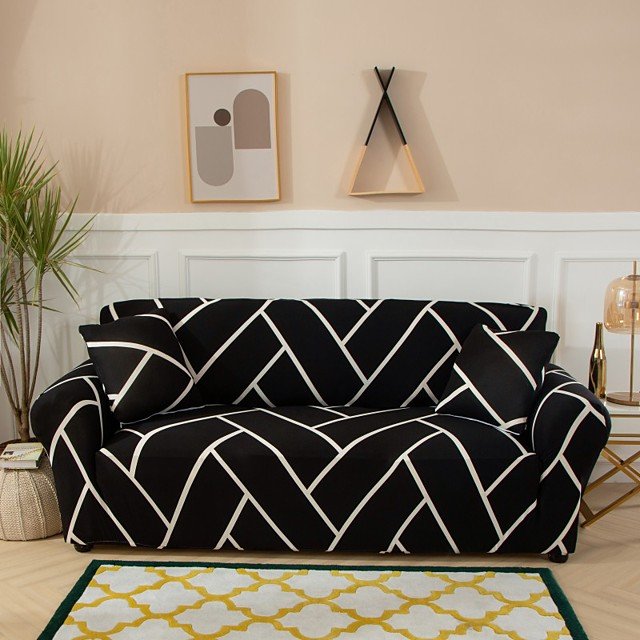 Sofa Cover Couch Cover Dustproof Print Soft Stretch Sofa Slipcover Super Strechable Cover Fit for Armchair/Loveseat/Three Seater/Four Seater/L shaped sofa