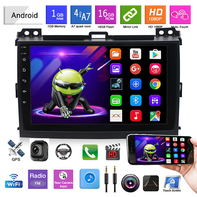 suitable for 04-09 toyota old domineering gps android navigation integrated machine car mp5 bluetooth reversing image