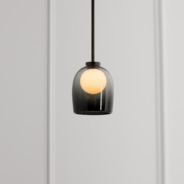 LED Pendant Light Glass Bedside Light Postmodern Small Chandelier American Art Restaurant Sofa Porch Designer