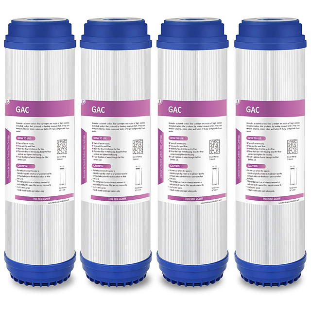 10x 2.5 Under Sink Reverse Osmosis Granular Activated Carbon Water Filter Cartridge Sediment GAC Water Filter Replacement