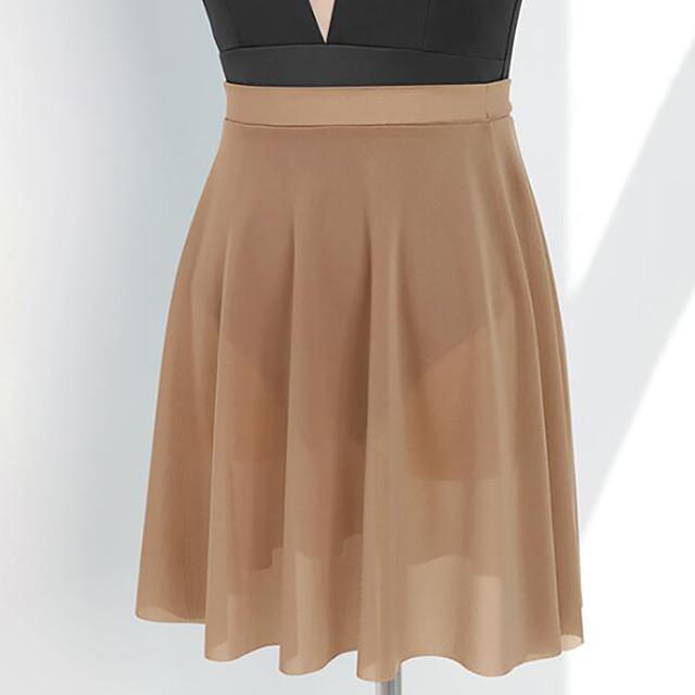 Ballet Activewear Skirts Solid Women's Training Performance High Nylon