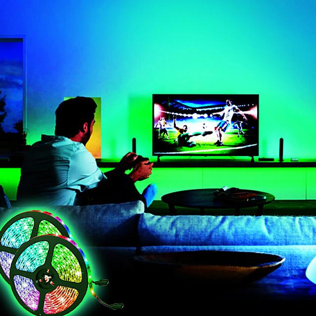 אורות רצועת led עמיד למים 10m (2x5m) אורות רצועת led גמישים אורות tiktok 2835 600 נוריות 8 מ