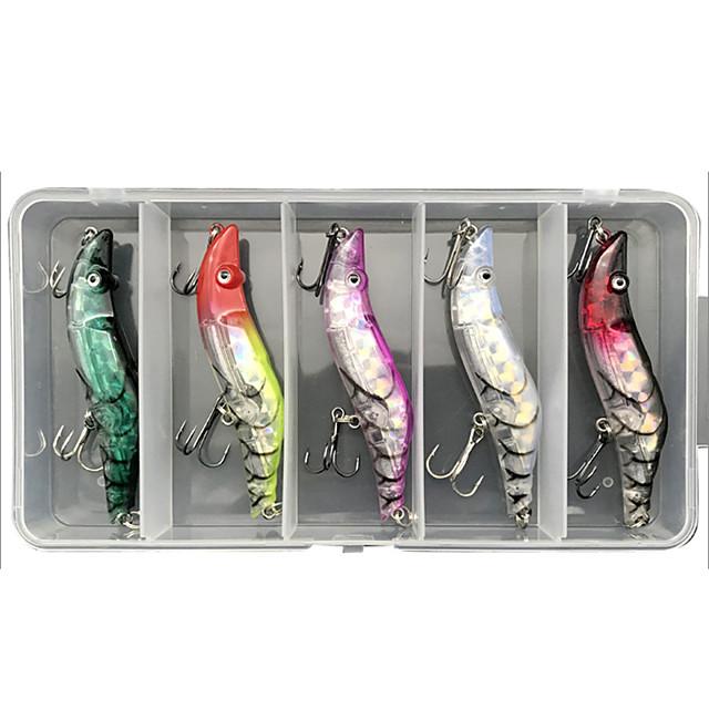 5 pcs Lure kit Fishing Lures Crawfish lifelike 3D Eyes Bass Trout Pike Sea Fishing Lure Fishing Freshwater and Saltwater