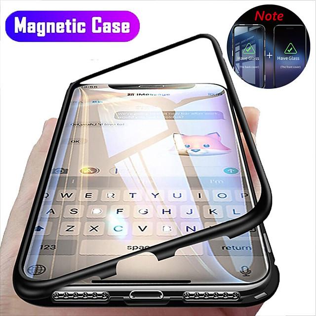 teléfono Funda Para Apple Funda de Cuerpo Entero adsorción magnética iPhone 12 Pro Max 11 SE 2020 X XR XS Max 8 7 6 Antigolpes Dar la vuelta Transparente Transparente Dura Vidrio Templado Metal